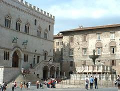 Palazzo dei Priori and Piazza IV Novembre